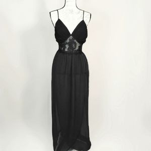 Incredibly haunting black lacey chiffon nightgown
